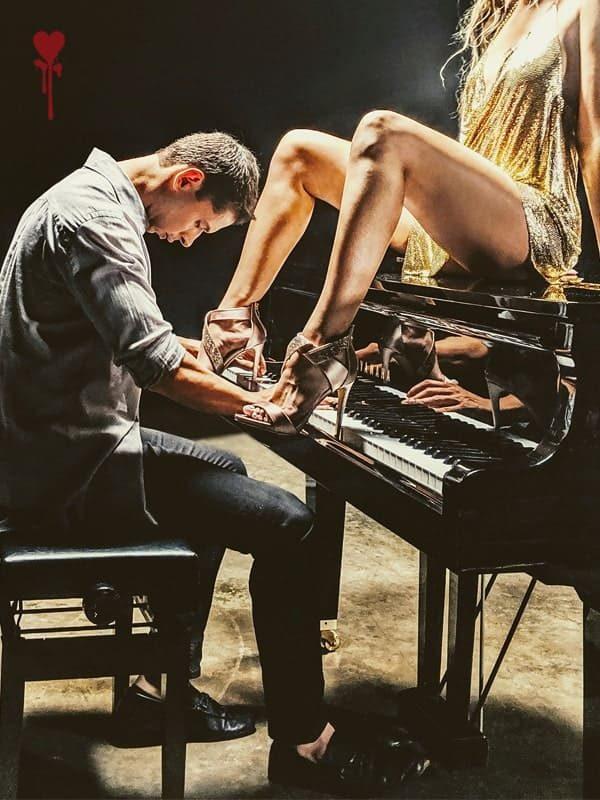 Shayan Italia With Woman On Piano